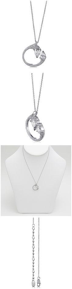 Sterling Silver CZ Fashion Necklace