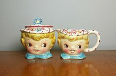 Vintage Lefton ESD Dainty Miss Cream and Sugar Set by atgbvintage