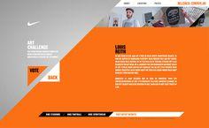 nike . website / art challenge . orange . grey . web design .