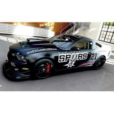 San Antonio Spurs Themed Car.