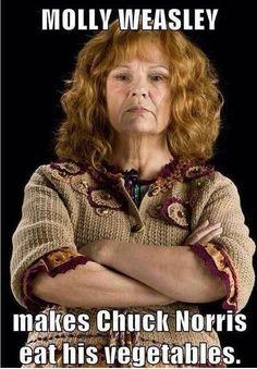 Molly Weasley Meme #Chuck, #Norris
