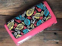 Vera Bradley Happy Snails Frill Wallet Plastic Coated Coral Blue  EUC  | eBay