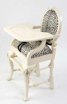 @Amelia Rosales Sánchez Rosales Sánchez Stone Bratcher This is what I picture your baby sitting in. Most fabulous highchair ever!