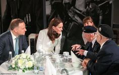 The Duke and Duchess met Major Marian Słowiński and Colonel Edmund Brzozowski, members of the Polish Army and Resistance during World War II.
