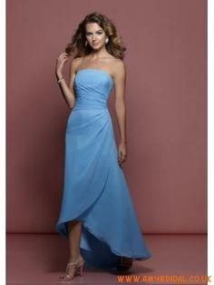 Cornflower blue bridesmaid dress long