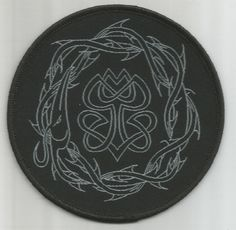 PARADISE LOST Crown Of Thorns Woven Patch Sew On Official Band Merch