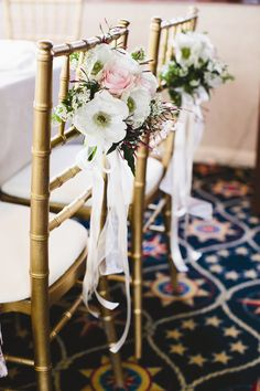 Gold Chiavari Chairs | Katharina Stuart Floral Art and Design | Inkspot Photography | TheKnot.com