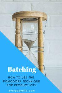 Batching: Pomodoro T