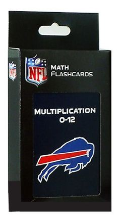 NFL Buffalo Bills Multiplication Flash Cards by KE Specialties. $5.46. Goes Anywhere and Can be Used Alone or With Others. Includes One Box of Multiplication Flash Cards. Large, 3 1/2 x 5 1/2 Cards Makes it Easy for Kids to Handle and Read.. A Proven Learning Tool That Helps Reinforce and Build Math Skills. A Great Way to Interest Your Child in Math and Make Learning Fun. Looking for an exciting way to help your child improve their multiplication facts? These large, easy to han...