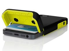 The Incipio Stashback for iPhone 5 provides protection plus holds up to 3 cards and some cash in the storage compartment. #FathersDay GetdatGadget.com/12-elegant-fathers-day-slim-wallets/