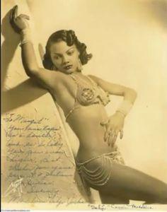 "Madeline ""Sahji"" Jackson, African-American Burlesque Dancer"