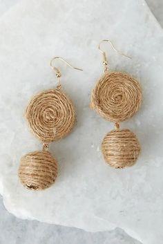 Fabric Earrings, Beaded Tassel Earrings, Diy Earrings, Earrings Handmade, Handmade Jewelry, Statement Earrings, Shell Earrings, Stone Earrings, Unique Jewelry