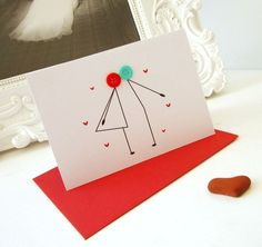 kissing button card