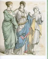 ROMA:el estilo de vida de los romanos se centra en el modo de vida de las clases.en la época romana se produjeron muy pocos cambios en la forma de vestir. de las mujeres. las mujeres utilizaban velo, tejidos de colores material algodón, seda. prendas masculinas: vestían con sencillez, una falda cortase hacia de hilo y se anudaba a la cintura, túnica de manga corra.. al igual que la ropa los zapatos representaban la posicion social. perfumes y cuidados para la piel no podian faltar.