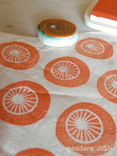 pandora's fabric - tessuto pandora per pippi #fabric #stamp