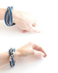 "Beaded Wrap Bracelet Blue Beaded Bracelet Double by JPJbeaded Small - total length 22"" (56cm) Medium - total length 24"" (61cm) Large - total length 26"" (66cm)"
