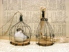 I made a wire bird cage two years ago, but this time I made two small cages with wooden chips. I wish you all a wonderful week!  Cya :)  Sa...