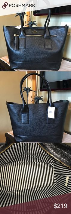 NWT Kate Spade Extra Large Zippered Tote Absolutely stunning and brand new Kate Spade Harmony Southport Avenue Tote in Black. kate spade Bags Totes