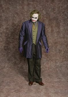 $40.00 Costume Rental  Dark Joker #2  suit coat, pants, shirt, vest, tie, goves