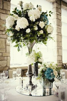 Wedding reception centerpiece idea; Featured Photographer: One Tree Studios