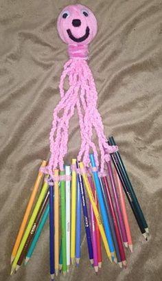 pulpo lana organiza lapices