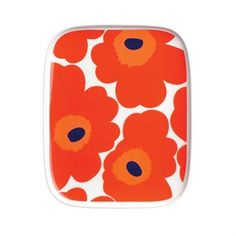 Unikko rectangular plate by Marimekko Marimekko, Royal Copenhagen, Scandinavian Kitchen, Scandinavian Design, Spring Blooms, Small Plates, Bold Prints, Textile Design, Fashion Prints