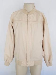 c362ca30457 Details about Vtg ARNOLD PALMER Arnie Mens Beige Golf Windbreaker Jacket  Coat Large EXCELLENT