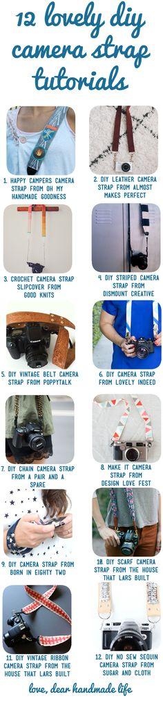 twelve lovely diy craft camera strap tutorials - dear handmade life