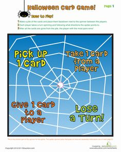 Halloween Printable Board Games Worksheets: Printable Board Game: Halloween Match-Up