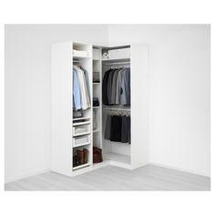 IKEA - PAX white Corner wardrobe Frame colour: white Forsand - April 13 2019 at