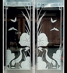 sandblast design for front doors    http://www.gtaporchquote.com/Custom-Glass-Sandblasting-Designs.asp