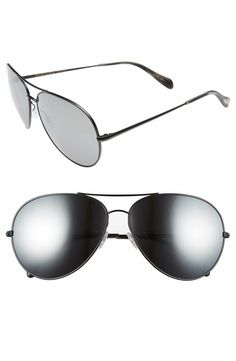 307e2c6d4966 Main Image - Oliver Peoples Sayer 63mm Oversized Aviator Sunglasses  Oversized Aviator Sunglasses