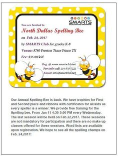 #North #Dallas Spelling Bee with FREE Training