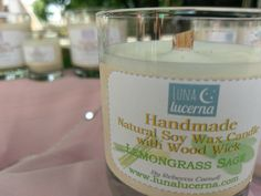 Soy Woodwick Candle | Summer & Herb Fragrance Collection | All Natural | scented | crackle | reusable by LunaLucerna on Etsy