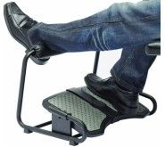 Foot rest may be the solution for aching knees, legs and ankles at your office desk. Choose the right one. Office Cubicle, Cubicle Ideas, Cool Office Desk, Office Decor, Aching Knees, Foot Love, Homework Station, Tired Feet, Back Muscles