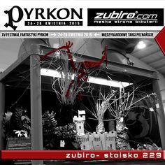 W następny weekend będziemy z Wami na festiwalu fantastyki PYRKON w Poznaniu. 24-26 kwietnia na terenie Międzynarodowych Targów Poznańskich. Już dzisiaj zapraszamy na stronę: http://zubiro.com/pyrkon2015,0,126.htm Szykujemy z tej okazji sporo niespodzianek i promocji, o czym będziemy na bieżąco Was informować.