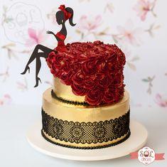 Birthday Cake For Women Elegant, Elegant Birthday Cakes, Beautiful Birthday Cakes, Birthday Cakes For Women, Elegant Wedding Cakes, Beautiful Cakes, Amazing Cakes, Bolo Channel, Diva Birthday Cakes