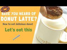 It's a Donut Latte! Espresso Recipes, Coffee Recipes, Dessert Drinks, Desserts, Krispy Kreme Doughnut, Delicious Donuts, Cafe Style, Doughnuts, Latte