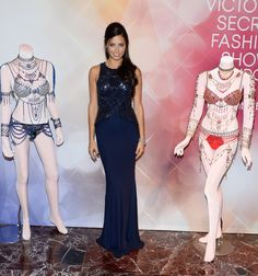 Model Adriana Lima attends the Victoria's Secret Dream Angels Fantasy Bra debut at the Fashion Show mall on on November 13, 2014 in Las Vegas, Nevada.