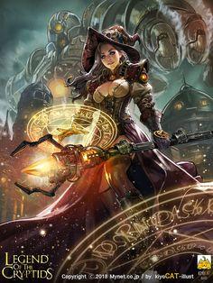 ArtStation - legend of the cryptids, kiyocat illust wallpaper fantasy art legend of the cryptids, kiyocat illust Fantasy Girl, Fantasy Witch, Witch Art, Dark Fantasy Art, Fantasy Warrior, Fantasy Women, Anime Fantasy, Fantasy Artwork, Fantasy Dress