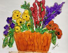 """""""Overflowing Orange Basket"""" Lovitude Soul Painting by Annie Pryor"""