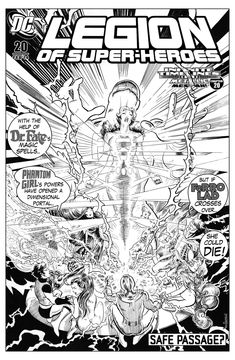 Legion of Superheroes Homage to Pandora Issue 7 ( Infinite Timelines : A Metallic Messiah - Chapter 20 ) Comic Art