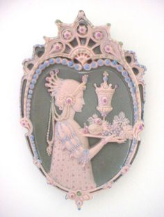 Very Rare Antique Jewelled Jasperware Plaque (#2)