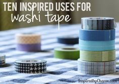 10 Inspired Uses for Washi Tape.  None of these are my idea - in fact, this post was my introduction to washi tape.  But the ideas for marking calendars and folders - great fun!