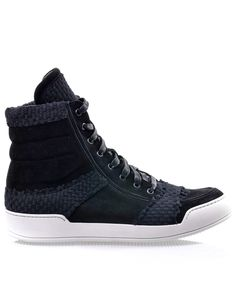 Tapestry and suede high-top trainers b4f99f5b6