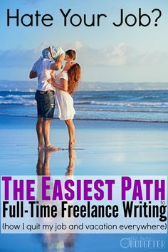 The Easiest Path to full-time freelance writing. Yes! What an awesome way to make money from home! I'm always looking for ideas to make money from home. How did I not know about freelance writing? You see blogging all the time as an example, but this seems easier since you don't have to take the time to build up your own site and fan base.