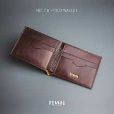 PENVUS - No.7 Bi-fold wallet (Type B, Dark Brown) #leather #leathercraft #penvus #penvusleathergoods #wallet #handmade #handcraft #madeinvietnam #vietnam