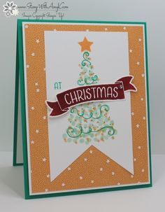 I used the Stampin' Up! Twinkle Trees and Time of Year stamp sets to create a clean and simple Christmas card share today. My card design was inspired by Freshly Made Sketches #256. I started…