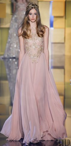 Elie Saab F/W 2015-16: blush & gold #Couture (A collection of dresses perfect for looking like a goddess, queen, or princess)