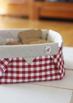 Fabric Origami Box Tutorial ~